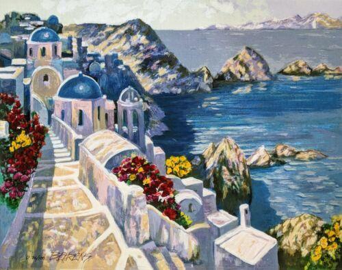 "Howard Behrens ""santorini Afternoon"" | Signed Embellished Glicee/canvas  Gallart"