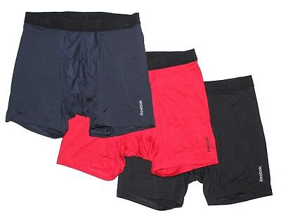 Nwt Reebok Mens Breathable Performance Boxer Briefs   3 Pack