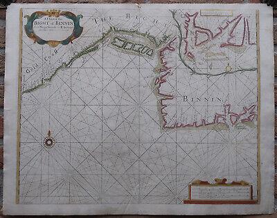Antique Print-SEA CHART-AFRICA-GULF-GUINEA-BIGHT OF BENIN-Thronton-Lamb-1707