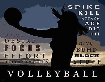 Girl Motivational Posters (Sand Women's Volleyball Motivational Poster Art Print Girl's Shoes Shorts)