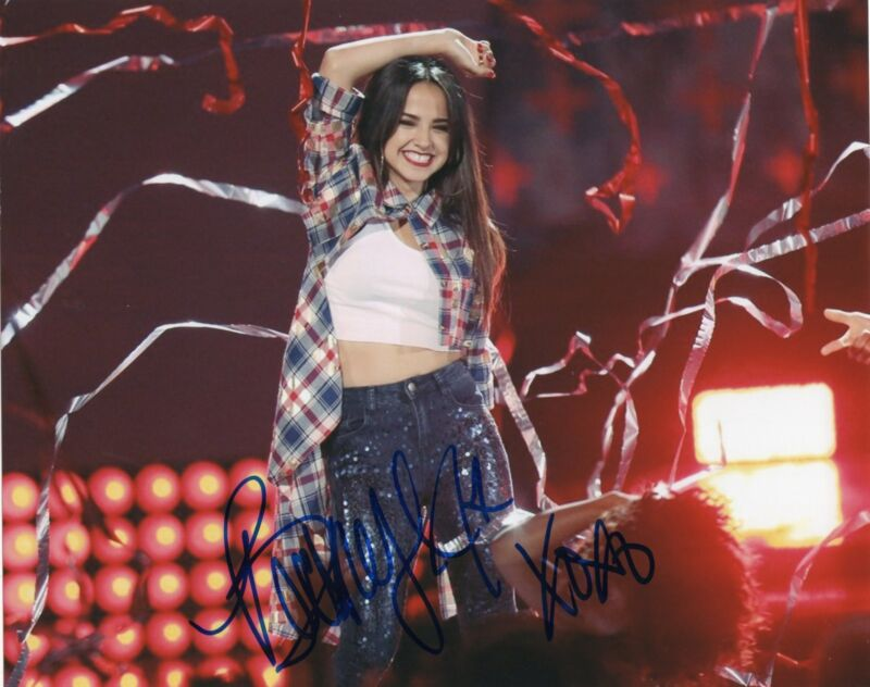 Becky G Rebecca Gomez Pop Star Shower Signed 8x10 Photo w/COA