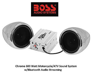 Bluetooth Capable Streaming 3  Speakers Custom Chrome Audio Sound System Suzuki
