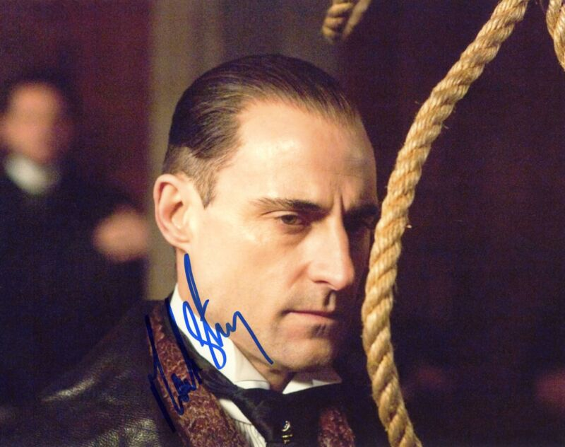 "Mark Strong ""Sherlock Holmes"" AUTOGRAPH Signed 'Lord Henry Blackwood' 8x10 Photo"