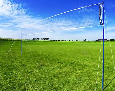 Hudora Volleyballnetz/Badmintonnetz (76535) | Federball Netz | Badminton Netz