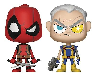 DEADPOOL & CABLE FUNKO VYNL MARVEL COMICS VINYL 4 inch FIGURE 2 pack NEW!