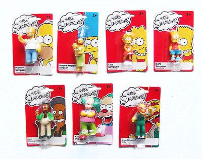 Simpsons Sammelfigur - Homer Bart Lisa Bart Marge Maggie Simpson Apu Willie Krus