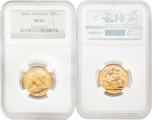 Australia 1896-M Sovereign Gold NGC MS63