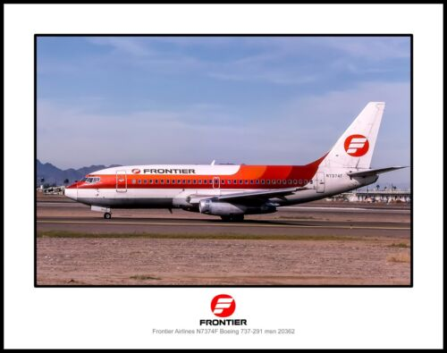 Frontier Airlines Boeing 737 11x14 Photo (J032LGAS11X14)