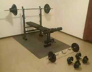 Bench with 130kgs of weights Marion Marion Area Preview