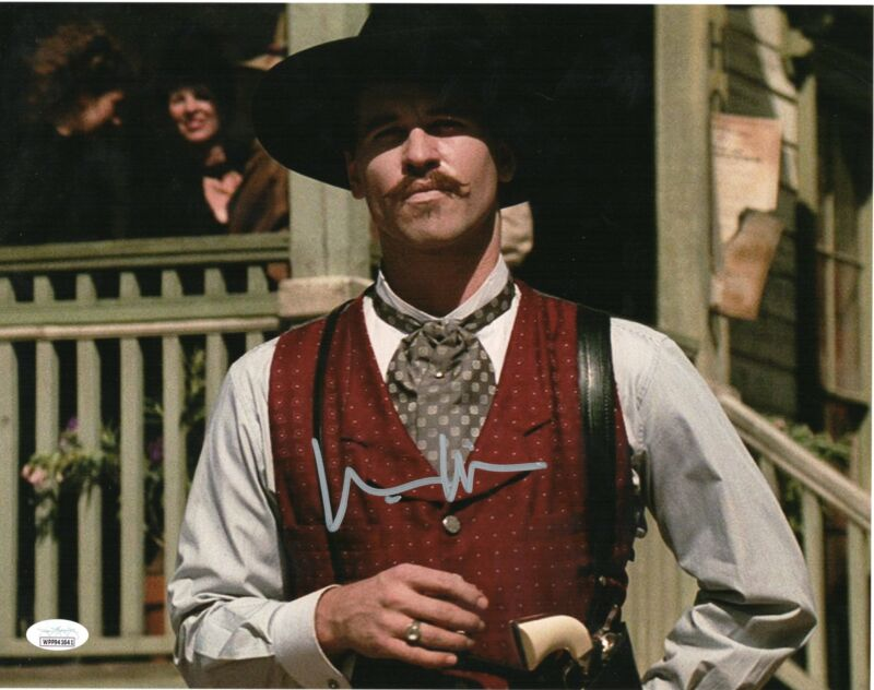 Val Kilmer Autograph 11x14 Picture Tombstone Doc Holliday Signed JSA COA