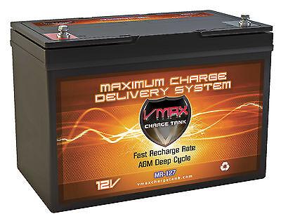 VMAX MR127 BOAT PONTOON 40-80LB TROLLING MOTOR MARINE DEEP CYCLE GROUP27 BATTERY