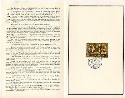 GABON ALBERT SCHWEITZER 1965 GOLD FOIL STAMP FD CANCEL IN PRESENTATION (Foil Stamp Folders)