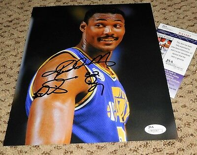 b4b590218 KARL MALONE SIGNED 8X10 PHOTO JSA UTAH JAZZ BASKETBALL AUTOGRAPH THE MAILMAN