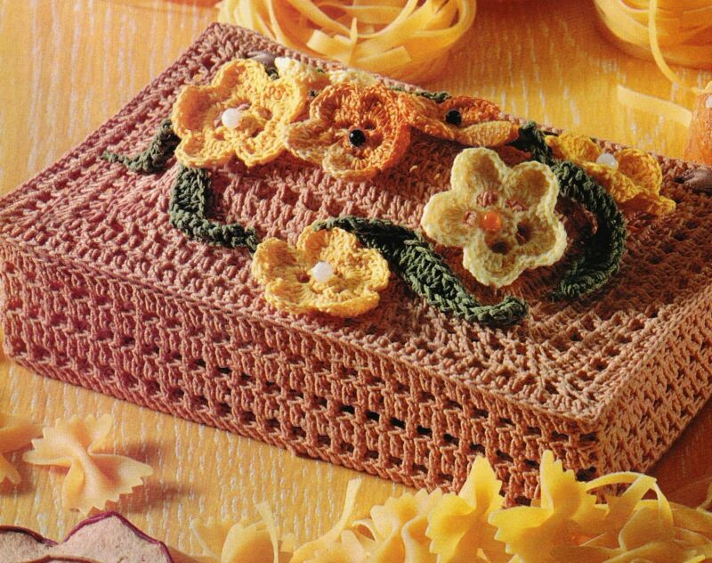 LOVELY Springtime Keepsake Box/Decor/Crochet Pattern INSTRUCTIONS ONLY