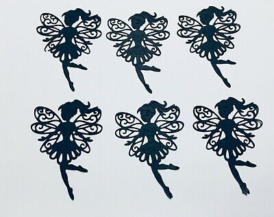 6 INTRICATE FULL WINGED FAIRY/FAIRIES DANCING, SKIPPING SILHOUETTE DIE CUT - Dancing Silhouette
