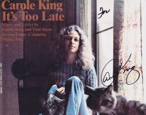 Carole King signed Tapestry era photo 8 x 10