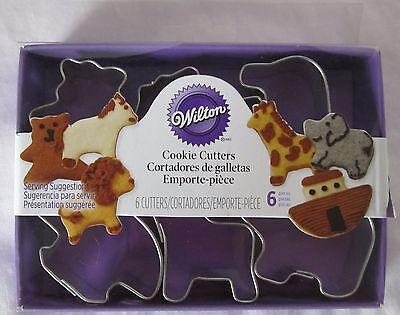- Wilton Cookie Cutter Cutters Metal 6 piece mini NOAH'S ARK with Recipe 2308-1206