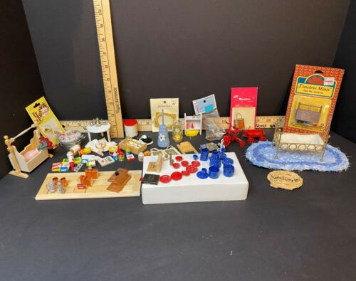 Miniature Dollhouse Accessories, over 60 items