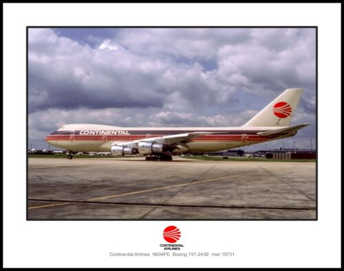 Continental Airlines PeoplExpress Colors Boeing 747 11x14 Photo (M103LGJC11X14)