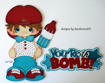 BOY SUMMER PATRIOTIC KIDS Die Cuts Paper Piecing PreMade Scrapbook danderson651](Kids Summer Crafts)