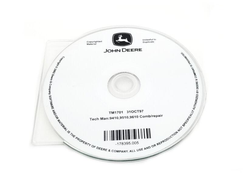 John Deere 9410/9510/9610 Combine Technical Manual CD - TM1701CD