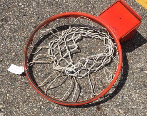 Basketball Goal Heavy Duty Breakaway Rim + Net University USED -Spring?