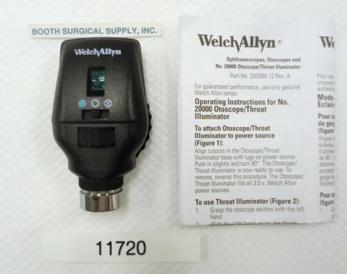 WELCH ALLYN 11720 3.5V COAXIAL OPHTHALMOSCOPE--- VERY GOOD/EXCELLENT USED!