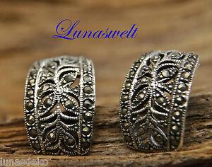 Ohrringe Ohrstecker 925/- Silber Markasit