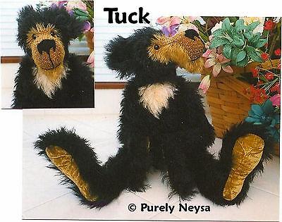 "Mohair/Plush  ""Tuck"" Teddy Bear PATTERN by Neysa A. Phillippi of Purely Neysa"