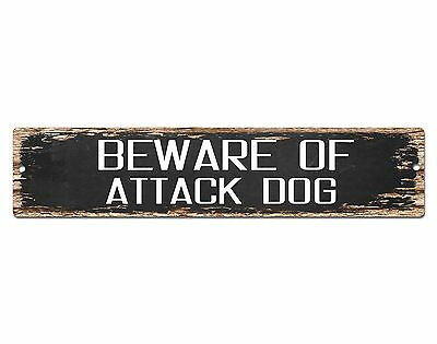 SP0427 Beware of ATTACK DOG Sign Bar Store Shop Pub Cafe Home Chic Decor Gift