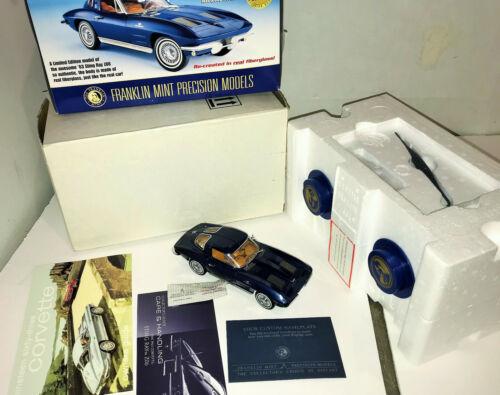 1/24 Franklin Mint limited edition Fiberglass 1963 Corvette Sting Ray Z06 Box