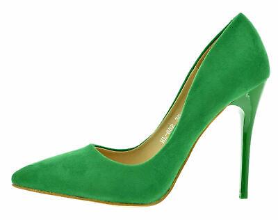 Scarpe eleganti decolletè donna decolte a punta camoscio tacco alto a spillo