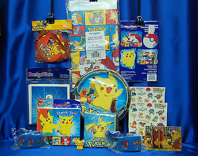 Pokemon Party Set # 16 Pokemon Party Pieces Pikachu Cake Topper Boy Or Girl Card (Pikachu Girl Or Boy)