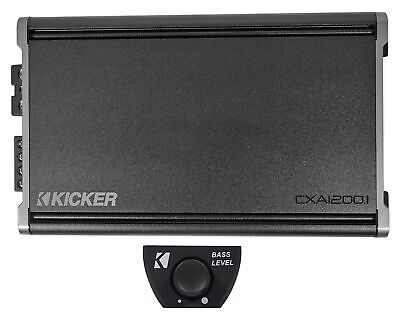 KICKER 46CXA12001 CXA1200.1 1200w RMS Mono Class D Car Amplifier Amp + Bass Knob