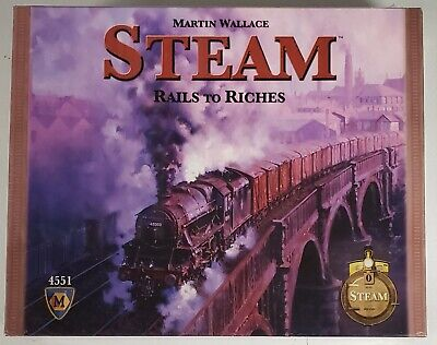 Steam Board Game Rails To Riches by Mayfair Games - sealed, new in covid 19 (Rails Board Game coronavirus)