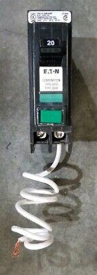 Eaton Cutler Hammer Qbcaf1020 Circuit Breaker Arc Fault 120vac 20amp Qb1020caf