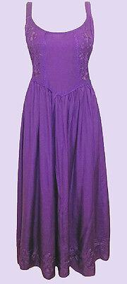 Neu Eaonplus Lila Renaissance Bestickt Prinzessinnenkleid UK (Lila Renaissance Kleid)
