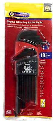 NAPA 13 PC SAE Magnetic Ball Plus Hex Key Set  #60100