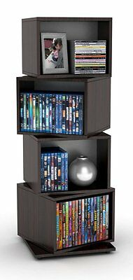 Atlantic Rotating Cube 216 Disc Media Tower In Espresso Finish 28235872 New