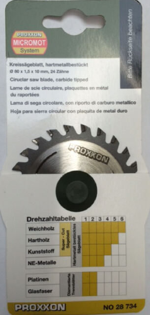Proxxon Tungsten tipped circular saw blade 28734 KGS80 / Direct from RDGTools