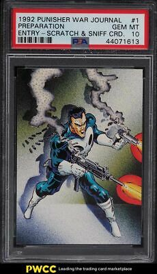 1992 Comic Images Punisher War Journal Entry Scratch Sniff 1 PSA 10 GEM MINT - $18.50