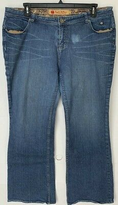 WOMENS JEANS PLUS SIZE 19 / 20 R APPLE BOTTOMS BOOTCUT PANTS STRETCH DENIM  - 20 Bottoms Jeans