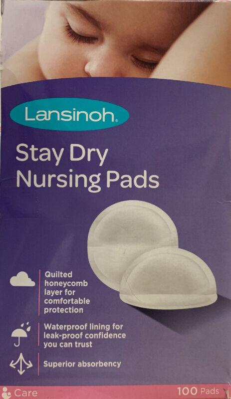 Lansinoh Stay Dry Nursing Pads (100 pads)