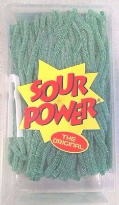 Sour Straws (Sour Power Green Apple Candy Straws 200 count by Dorval )