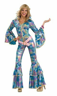 Disco Fever Halloween Costumes (Disco Mama 70's Fever Retro Dancer Fancy Dress Up Halloween Adult)