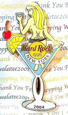 Hard Rock Cafe New York Pin Martini Girl 2004 Limited Edition New # 22234