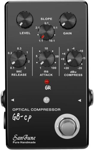 SanJune GB-CP Optical Compressor Guitar and Bass Effects Pedal