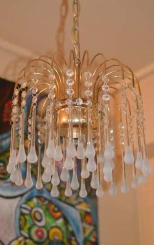 Murano Venini tear drops crystal Glass chandelier 3