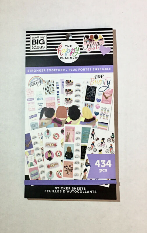 me & my BIG ideas, The Happy Planner Stickers, Stronger Together - New