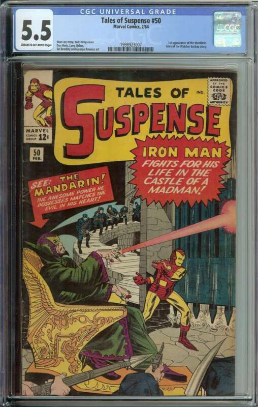 Tales Of Suspense #50 CGC 5.5 1st App The Mandarin